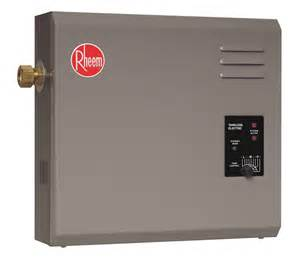 Electric Tankless Water Heater Rheem Tankless Electric Water Heater The Home Depot