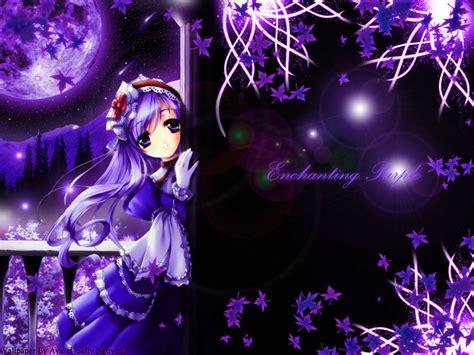 purple anime wallpaper princess wallpaper enchanting purple minitokyo