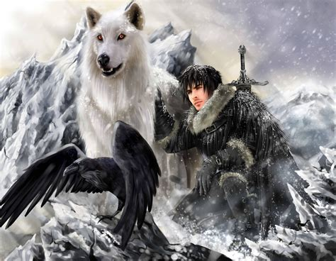 wallpaper ghost game of thrones fantasy wolf wallpapers wallpaper cave