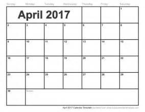 april 2017 calendar pdf blank calendar printable