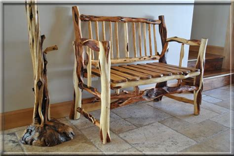 Bench Canada Spirit Of The West Log Furniture Diamond Willow