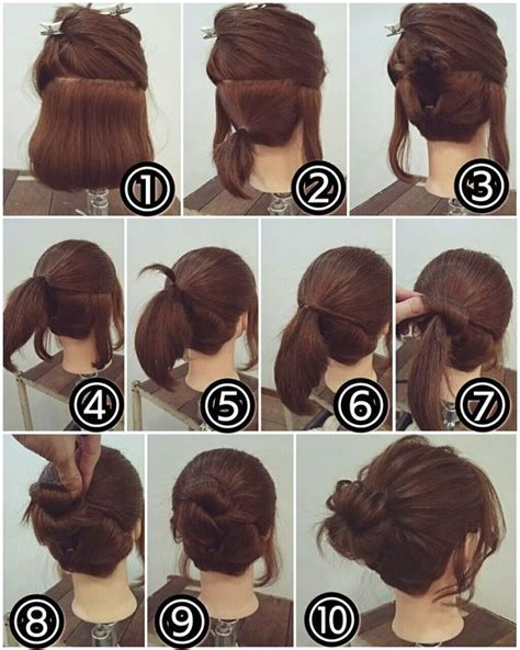 Hairstyle Easy Bun by Easy Bun Hairstyle For Hair Makeup Mania State