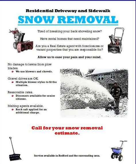 templates brochure snow removal flyers do they work plowsite