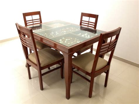 glass top dining tables with wood base furniture fancy