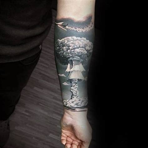 atomic bomb tattoo designs 50 unique forearm tattoos for cool ink design ideas