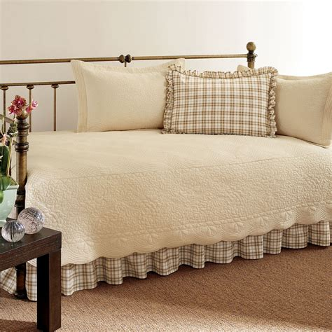 Day Bed Comforter Sets Trellis Plaid 5 Pc Daybed Bedding Set