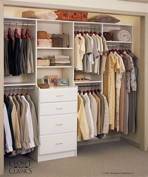White Closet System Closet System In White Home Organization