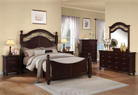 dark cherry wood bedroom furniture acme furniture cleveland dark cherry finish 5 piece