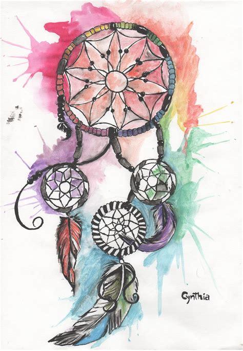 imagenes de tatuajes de atrapasueños dibujo estilo tatuajes de acuarela de un atrapasue 241 os