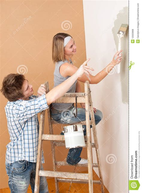 home improvement painting wall royalty free