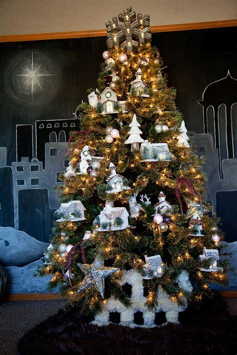 christmas village tree michaels dream tree challenge
