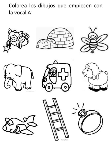 imagenes para colorear que inicien con la letra p imagenes de dibujos q empiezan con la vocal o vocal quot