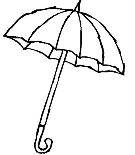 umbrella template az coloring pages