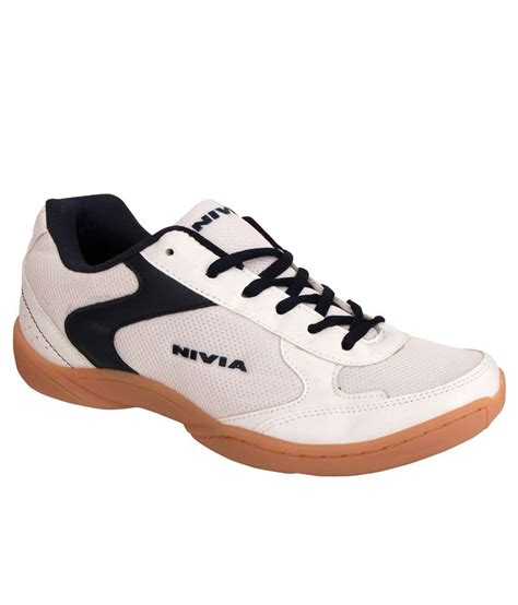 nivia sport shoes nivia flash white badminton sports shoes available at