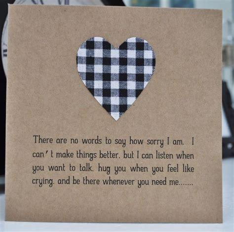 Handmade Sympathy Cards Verses - sensitive handmade sympathy card sympathy cards