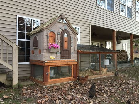 Cottage Playhouse Plastic Chicken Coop Backyard Plastic Cottage Playhouse