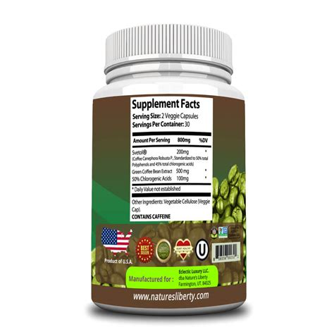 Green Coffee Bean Extract green coffee bean extract with svetol weight loss