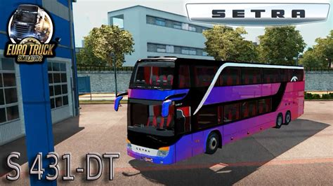 download mod bus game ets 2 bus setra s431 dt 1 27 x euro truck simulator 2