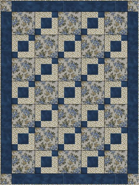 3 Yard Quilt Patterns by Downloadable Stepping Stones Quilt Pattern Easy 3 Yard Design