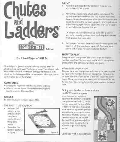 printable directions for chutes and ladders game hasbro chutes and ladders sesame street edition toy game