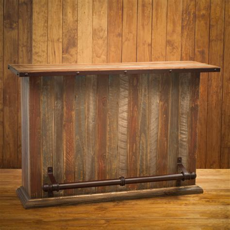 What Is A Wood Finish For A Bar Top The Rustic Wood Finish On Our 5 Portable Rustic Bar