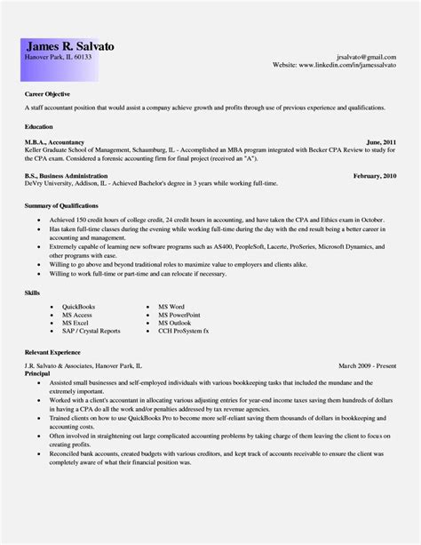 Sle Of Resume For Accounting Position by Cover Letter For Resume Accounting Entry Level 28 Images