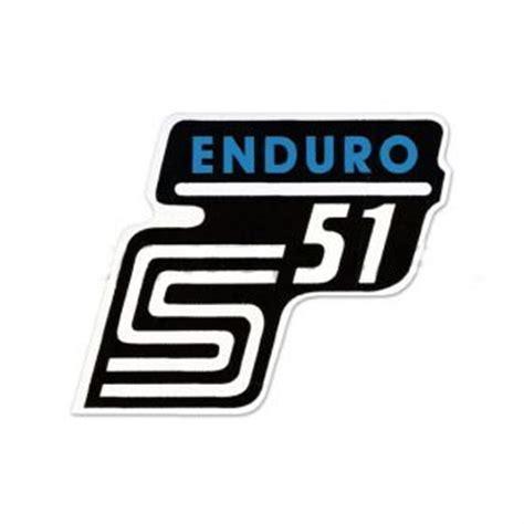 Moped Aufkleber Entfernen by Simso Shop Aufkleber Schriftzug Quot S51 Enduro Quot F 252 R