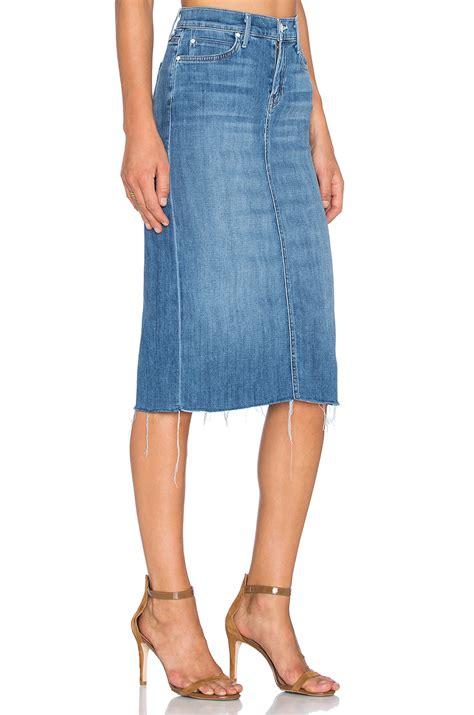 Slit Back Midi Skirt lyst the back slit midi skirt in blue
