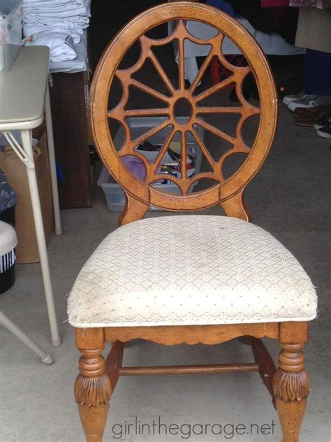 seat chair makeover chalk paint chair makeover with drop cloth seat in