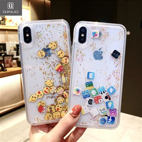 qinuo newest expression quicksand case  iphone  xs max