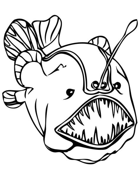 deep sea creatures coloring pages coloring pages