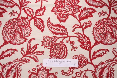 poppy upholstery fabric robert allen jacobean toss woven cotton upholstery fabric
