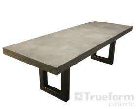 concrete dining table steel base and concrete table