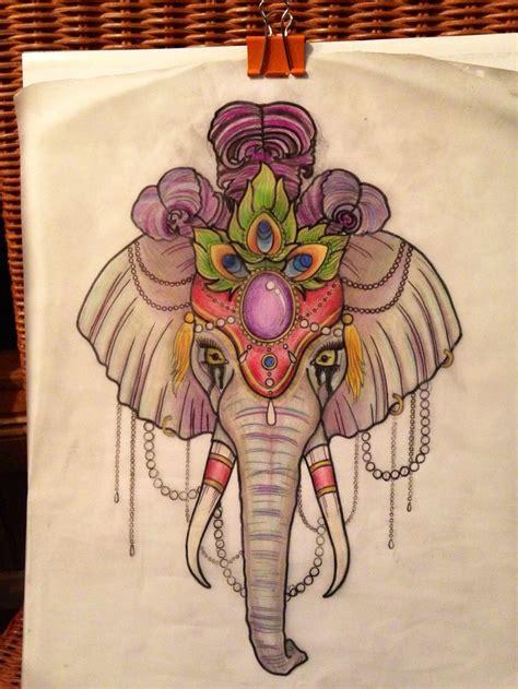 tattoo flash elephants neo traditional circus elephant tattoo design amy rose
