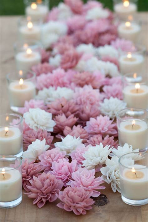 flower centerpieces centerpiece of pink white flowers with candles very