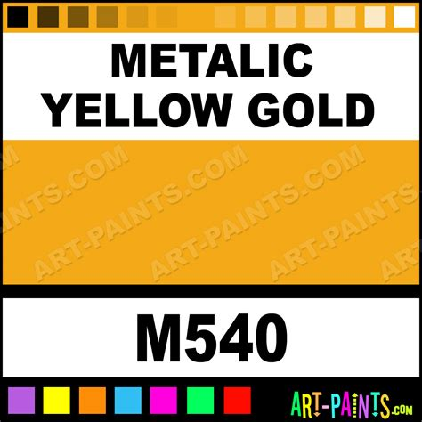 metalic yellow gold artist acrylic paints m540 metalic yellow gold paint metalic yellow