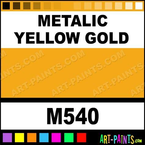 metalic yellow gold artist acrylic paints m540 metalic yellow gold paint metalic yellow