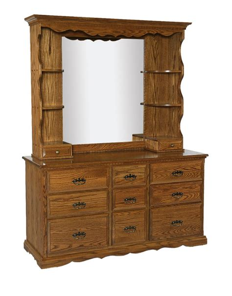 Dresser Mirror With Shelves by Furniture Bedroom Furniture Mirror Hutch Mirror Bedroom