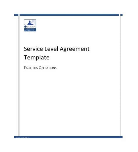 100 service level agreement template free service