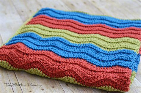 free easy ripple crochet baby blanket pattern my crochet easy crochet ripple blanket the stitchin mommy