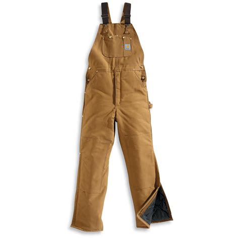 Carhartt Quilt Lined Bib Overalls by S Carhartt 174 Quilt Lined Duck Bib Overalls 226933