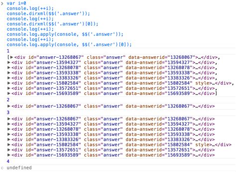 jquery console log javascript console log not outputting html of jquery