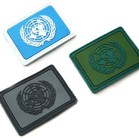 Rubber Patch Un United Nations united nations nations umies un flag pvc patches rectangle
