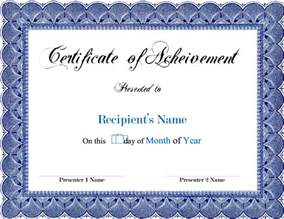 free template for certificates award blank certificates certificate templates