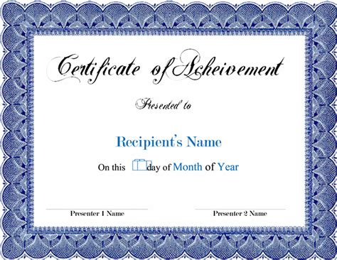 award template word award blank certificates certificate templates