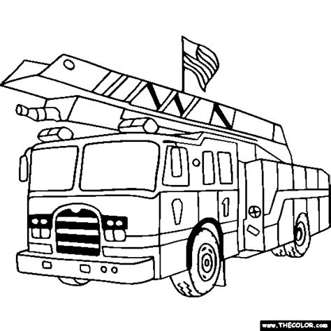 firetruck coloring page truck coloring pages pdf free coloring pages for