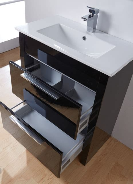 kato 27 inch bathroom vanity with storage black