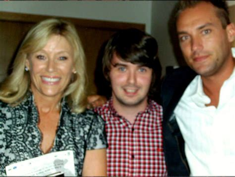 Mark with Angie and Calum Best ? George Best Lookalike