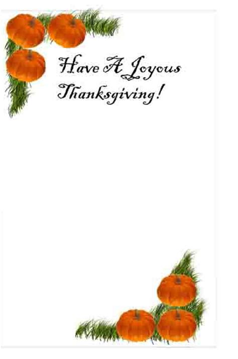 thanks giving cards word template thanksgiving printable cards free templates you can