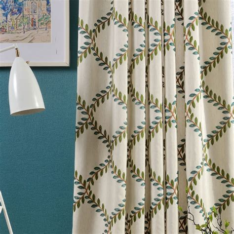 large pattern curtains new cotton embroidered curtain fabric luxury fashion